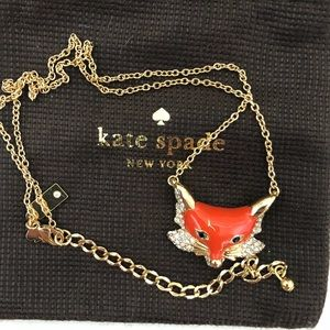 """Kate Spade """"Into the Woods"""" fox pendant. NWOT"""